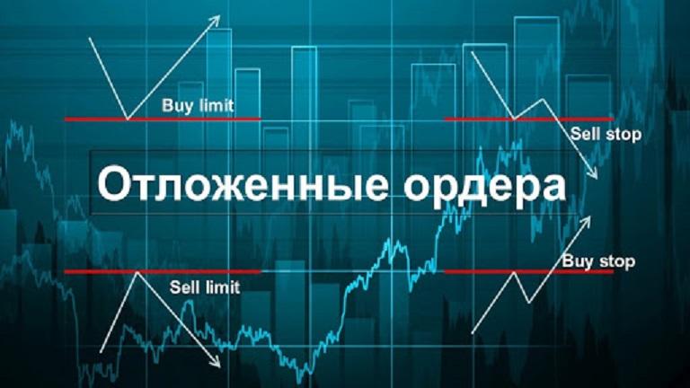 Отложенные ордера sell и buy limit, а так же sell и buy stop