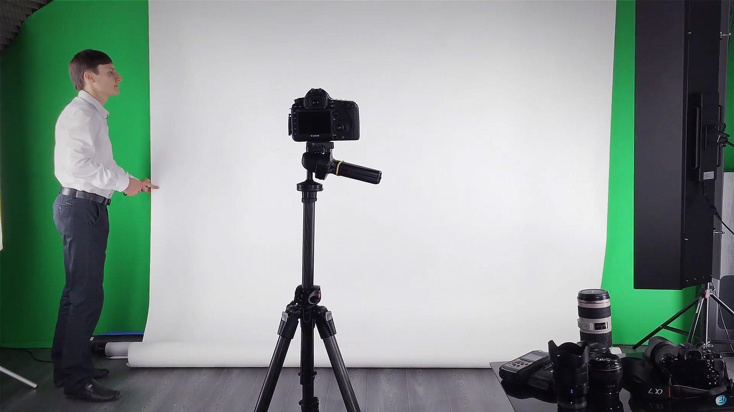 Полупрофессиональные и профессиональные условия и техника для съемки видео