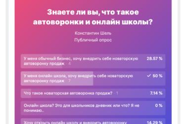 Опросники в Вконтакте